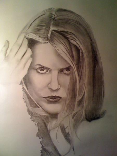 Nicole Kidman drawing.
