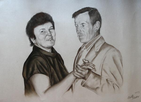 pliiats & pastell, 2013, 45x60 cm