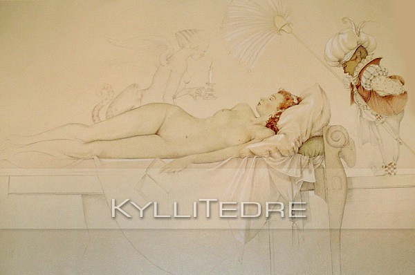 Repro of Michael Parkes' work  pliiats 2006, A1