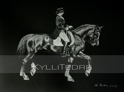 Kristiina ja Friedrich  pastell 2007, 30x40 cm