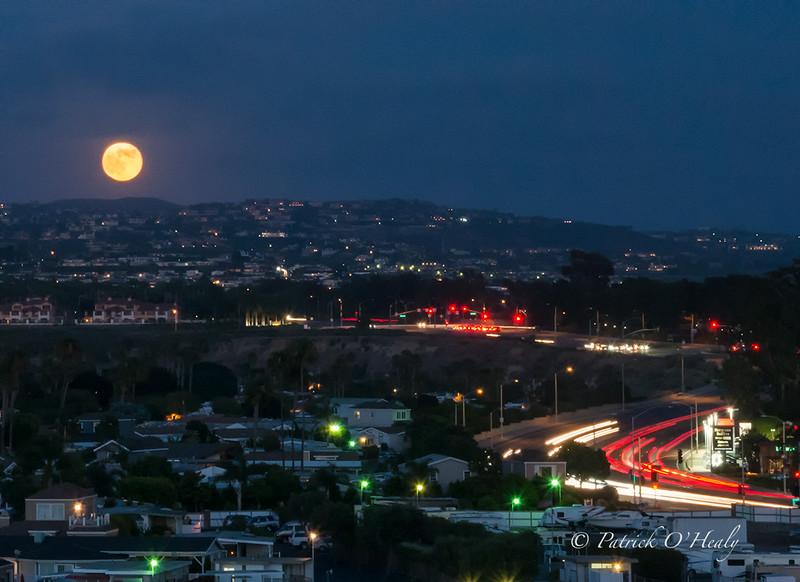 Super Moon Newport Beach, CA
