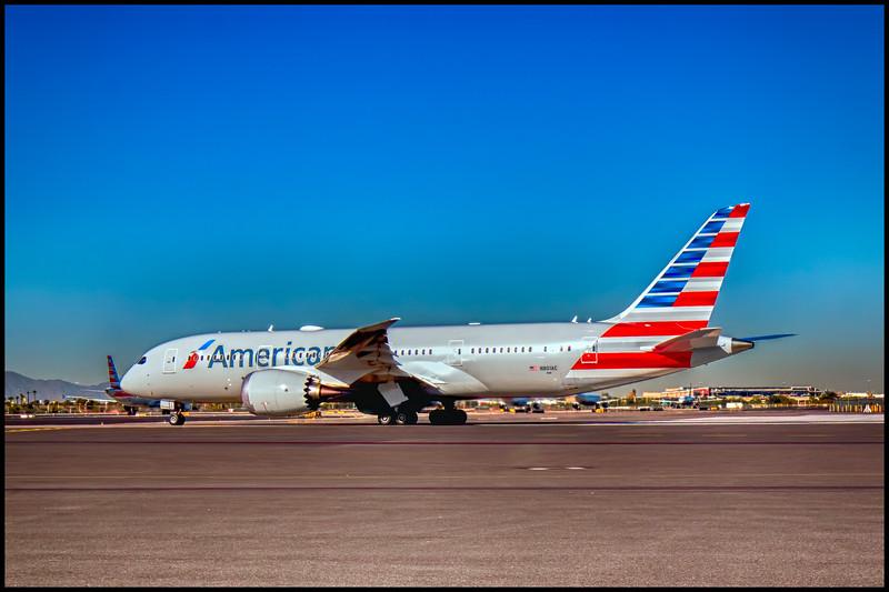 B787 Dreamliner Awaiting Departure