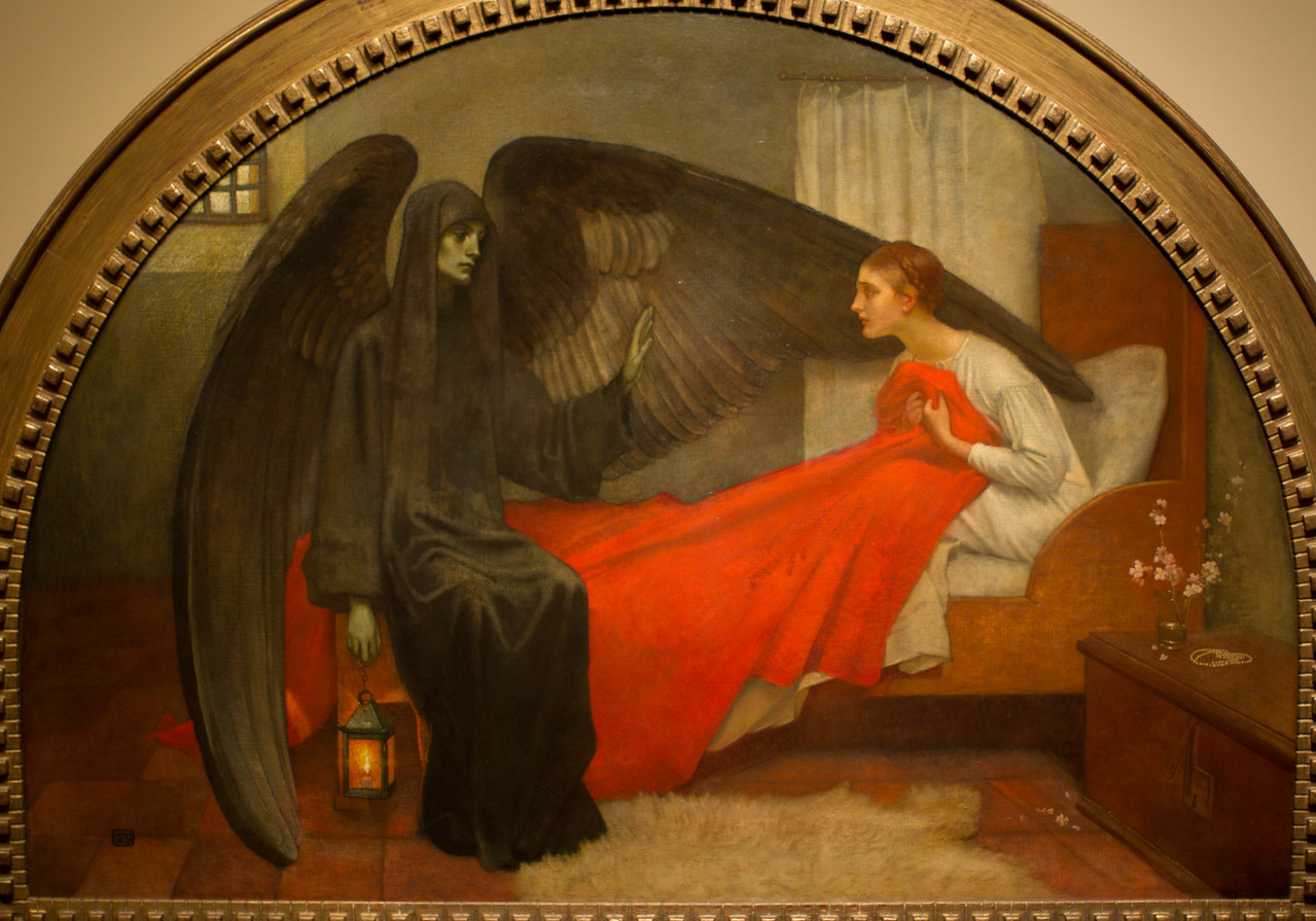 Marianne Stokes's The Young Girl and Death, c1908