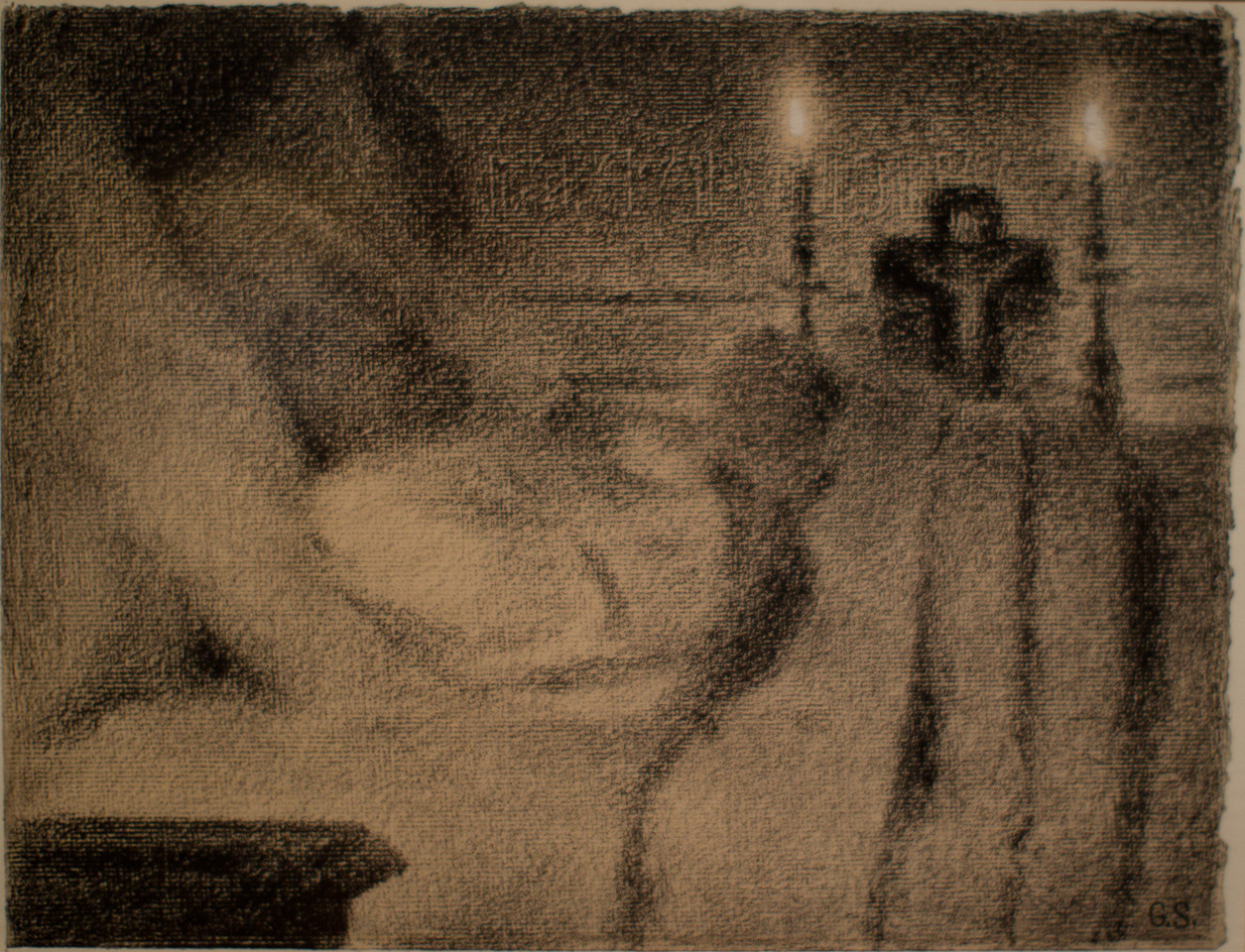 Georges Seurat's Anaïs Faivre Haumonté on her Deathbed, 1887