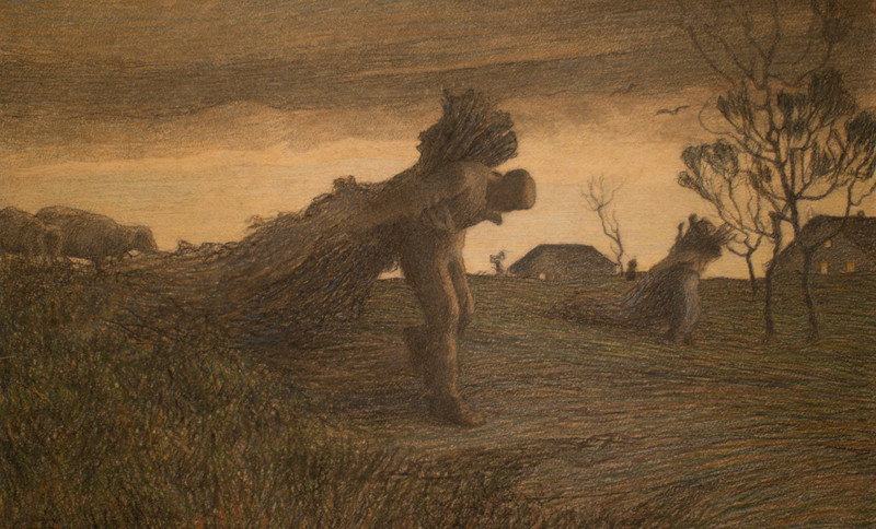 Giovanni Segantini's The Last Task of the Day, 1891