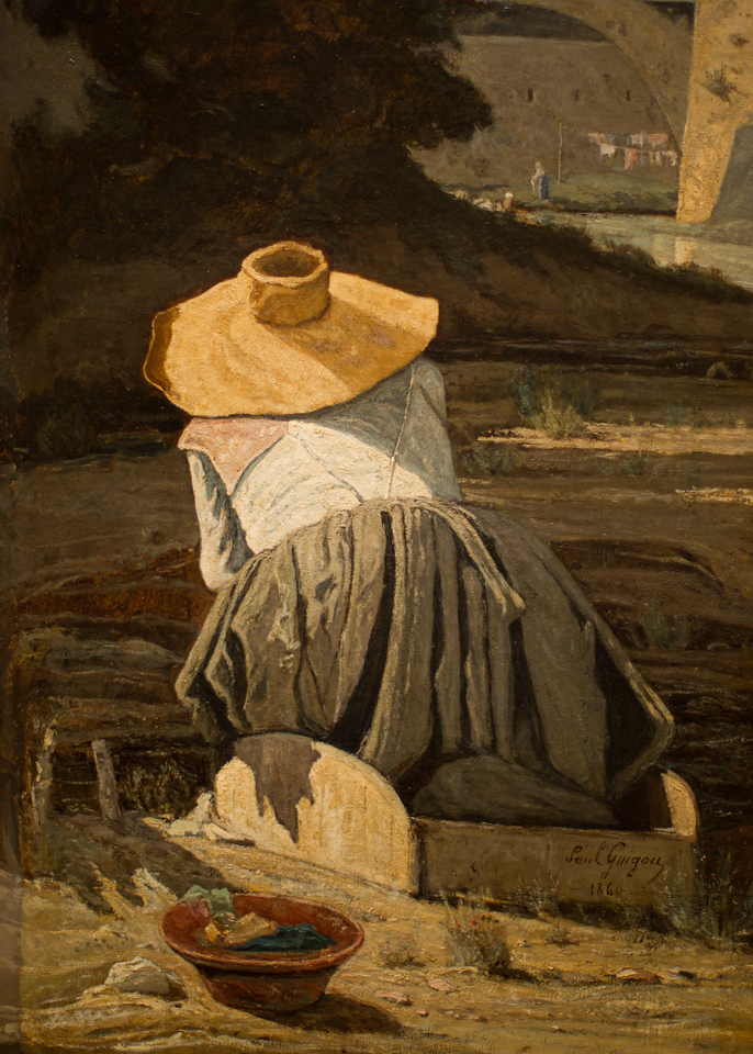 Paul Guigou's The Washerwoman, 1816