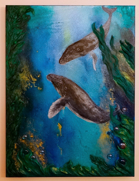 Humpback Whales Dark Forest Dream