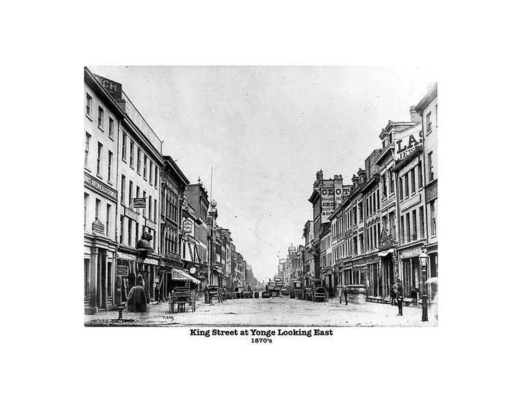 King Street at Yonge 1870s 11x14
