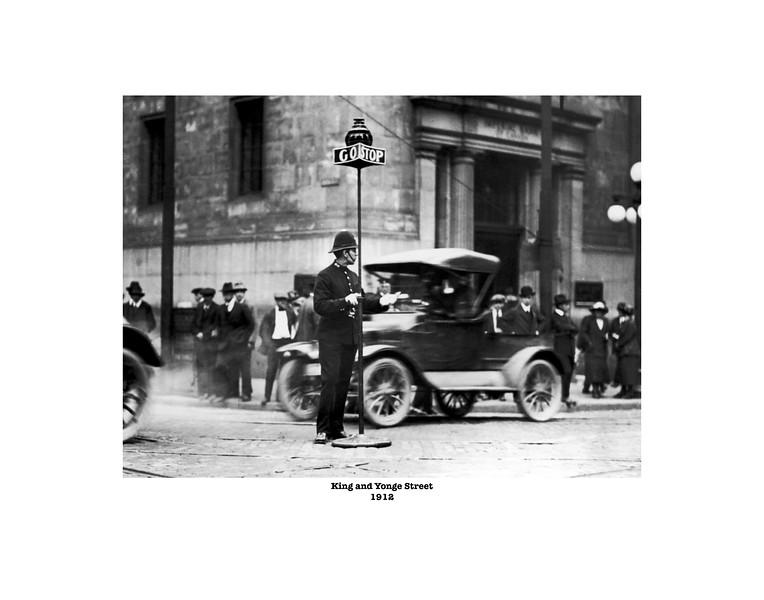 King and Yonge Street - Policeman 11x14