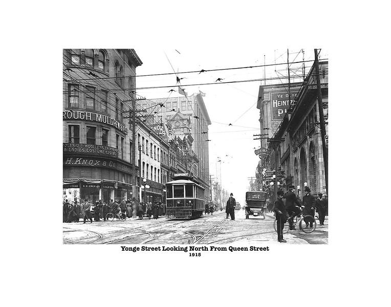 Yonge Street Looking North 1915