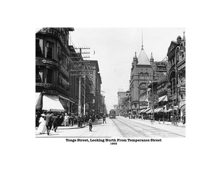 Yonge Street Looking North 1903 11X14