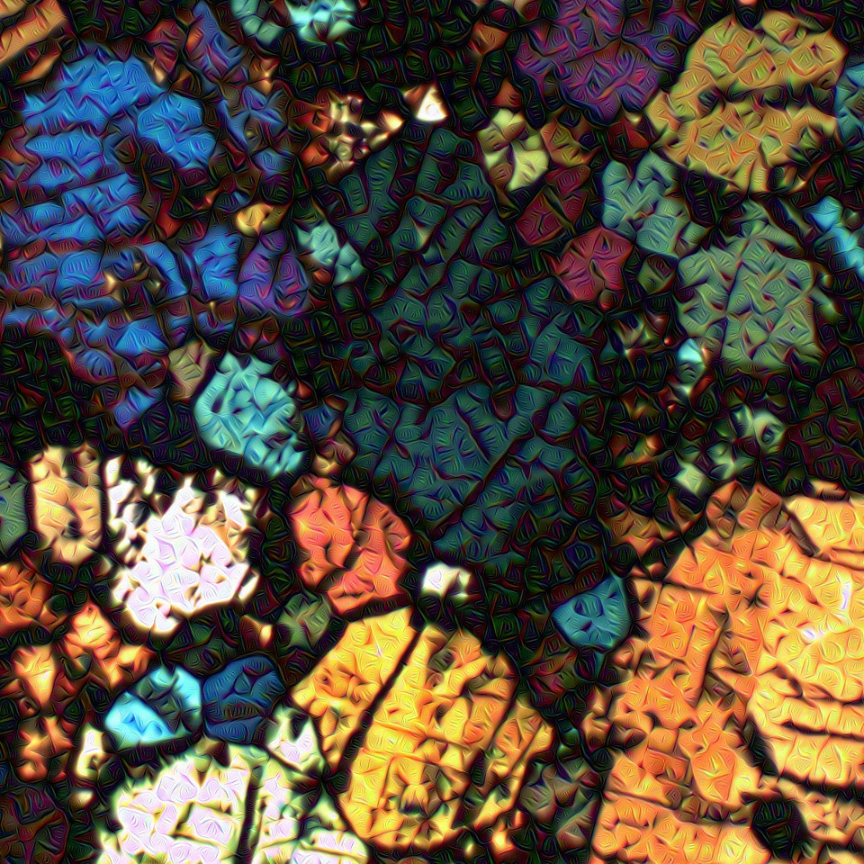 Meteorite Thin Slice - Detail #4