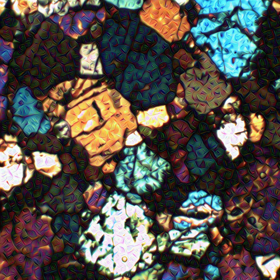Meteorite Thin Slice - Detail #1