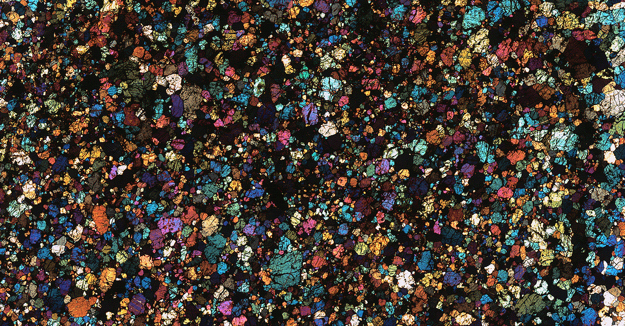 NWA 5384 Meteorite Thin Section
