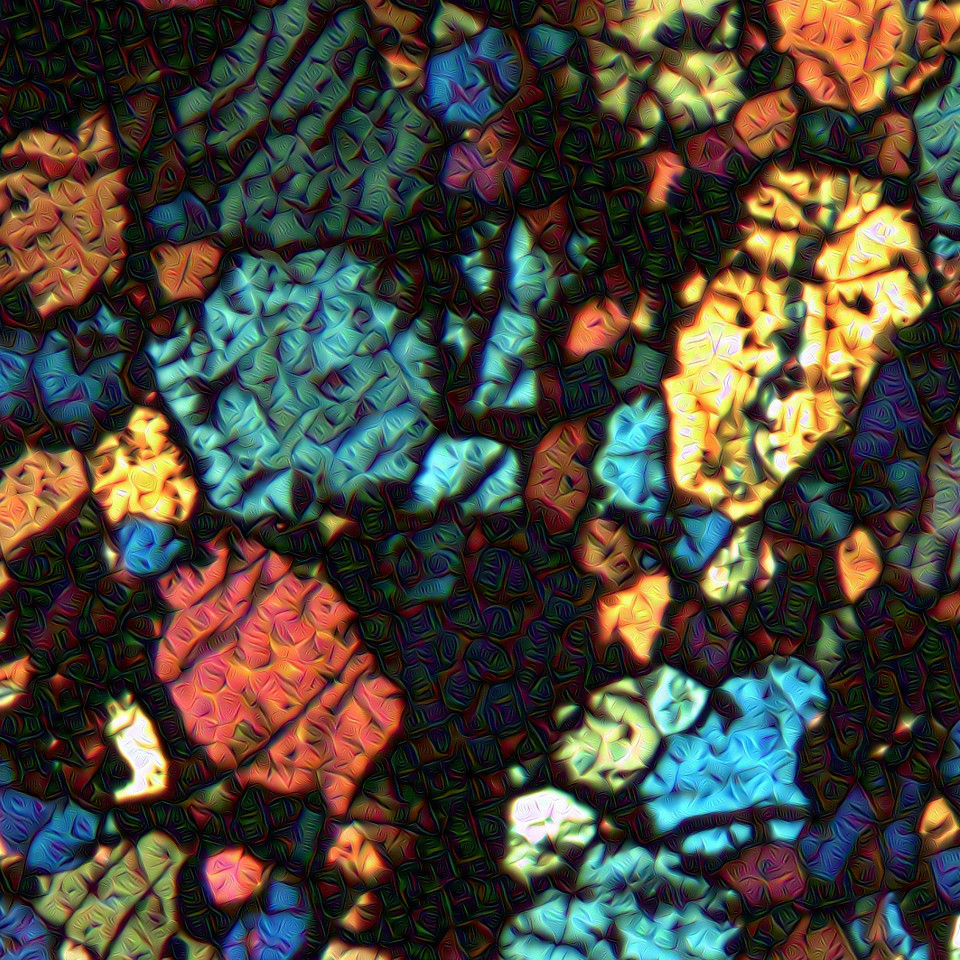 Meteorite Thin Slice - Detail #2
