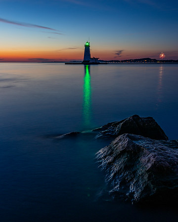 Ludington Lighthouse After Sunset