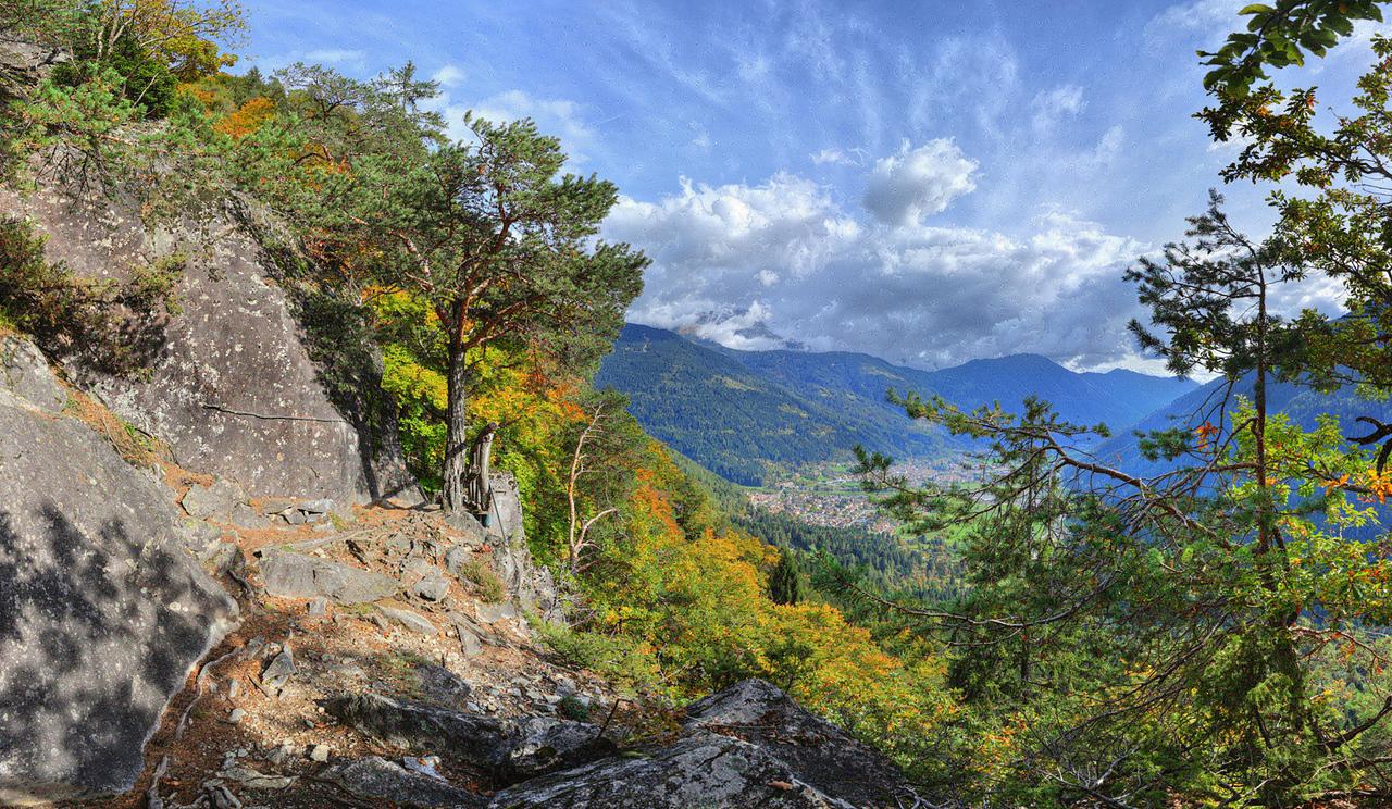 Trail to Eremo di San Martino, Carisolo, Italy
