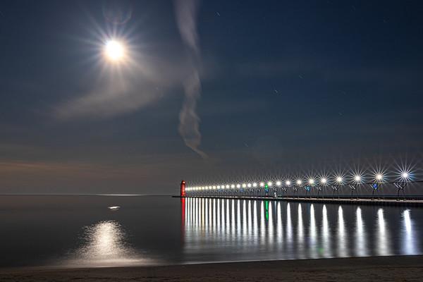 Lunar Radiance Over South Haven III