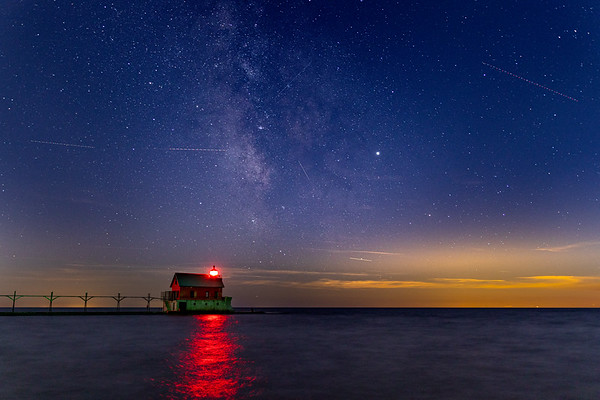 Milky Way Over Grand Haven Pier