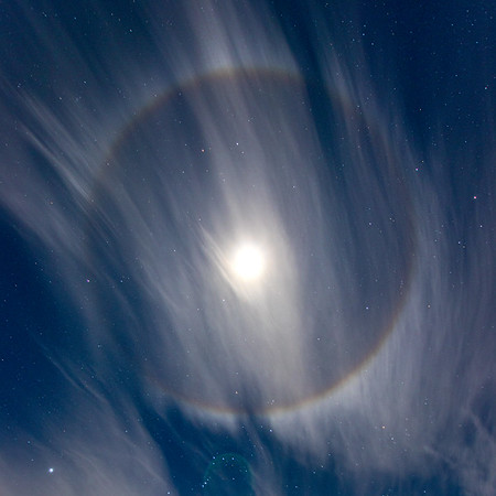 Ring Around the Moon in Grand Haven