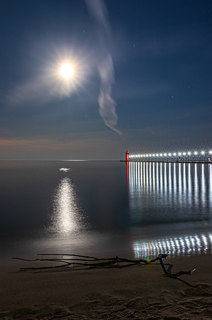 Lunar Radiance Over South Haven II