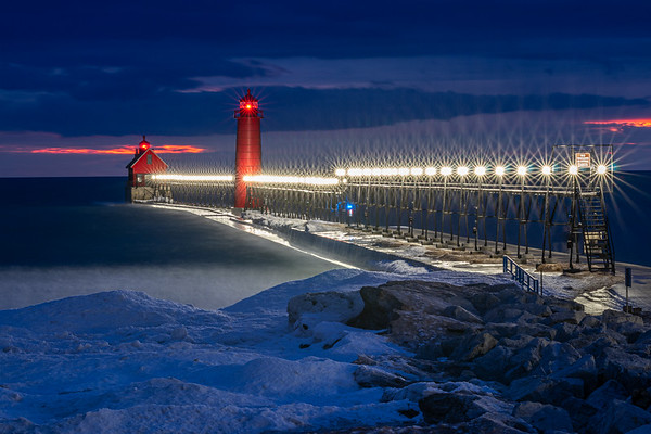 Winter Radiance on the Grand Haven Pier