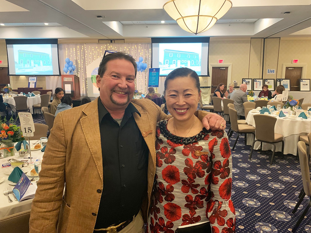 . David Ouellette of Lowell and Yun-Ju Choi of Pelham