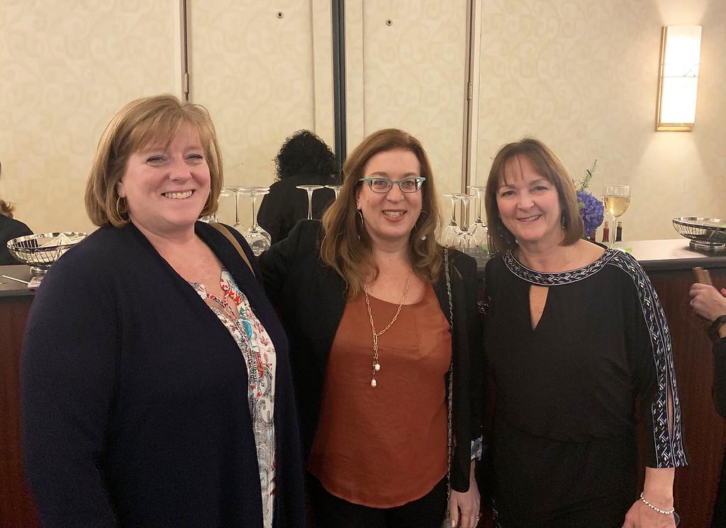. From left, Jill Richards, Liz Larson both of Chelmsford, Angela Harkins of Westford