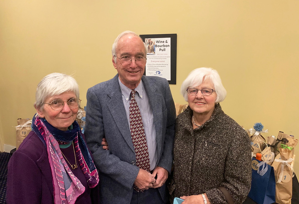 . From left, Constance Putman, Steve Carr and Candy Carr, all of Concord