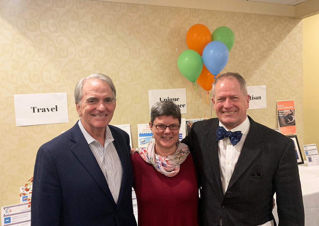 . From left, Greater Lowell Community Foundation President/CEO Jay Linnehan of Lowell, and Lisa Tellekson and Howard Amidon of North Andover