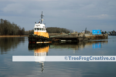Dredging on the Fraser