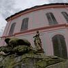 Sculptures surrounding the Little Pheasant Castle