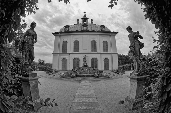 The Little Pheasant Castle, Schloss Moritzburg (b/w)
