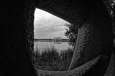 "Igor Brown's ""Window"" on Moritzburg Castle (b/w)"