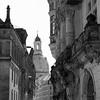 View from Schlossplatz towards Frauenkirche in Dresden.