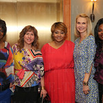 Executive Director of Dress for Success Betty Fox, Jeanne Freibert, Sequoia Harris, Board of Directors Secretary Colleen Beach and Tamara Carter Bowles.
