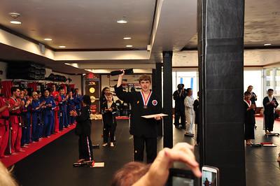 Drew's Black Belt Ceremony