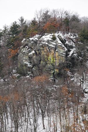 Rock Face on Blue River