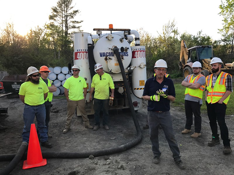 Mark Zork and his team during LSPA's Drilling 101 event