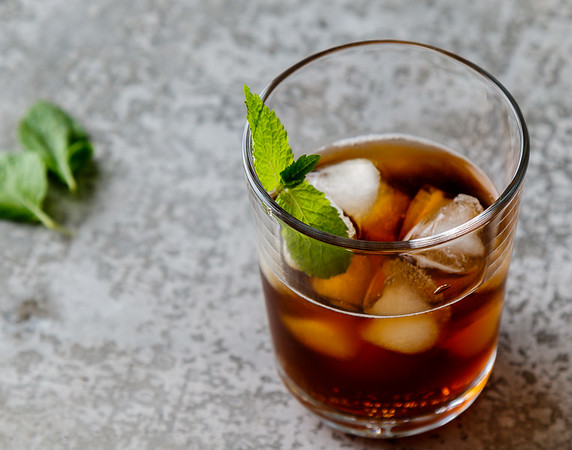 ice tea in glass