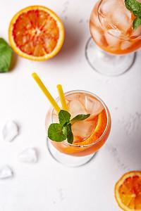 Aperol Spritz, Italian Cocktail With Orange  And Ice