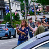 KRISTOPHER RADDER — BRATTLEBORO REFORMER<br /> People cheer and record as the graduating seniors from Hinsdale Middle High School, in Hinsdale, N.H., parade through town on their way to Northfield Drive-In, in Winchester, N.H., on Tuesday, June 9, 2020.