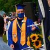 KRISTOPHER RADDER — BRATTLEBORO REFORMER<br /> The graduating seniors of Hinsdale Middle High School, in Hinsdale, N.H., collect their diplomas at the Northfield Drive-In, in Winchester, N.H., on Tuesday, June 9, 2020.
