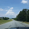 First view of the mountain, just before crossing SC state line into NC.