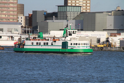 Portsmouth Queen heads for Gosport.   Superb little beastie.   Not easy to steer....