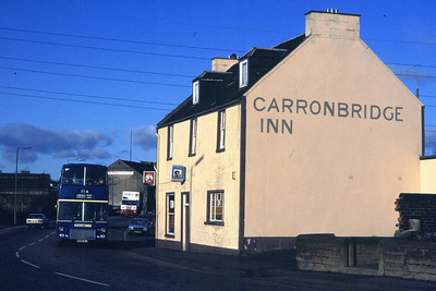 MRM88 passes the Carronbridge Inn.  Had a spin from Millars Truck Centre at Carronshore.  Don't think anyone noticed....