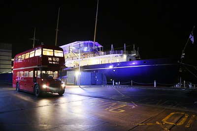 RM737 having finally been pointed in the correct direction for the drop-off at the Royal Yacht Britannia
