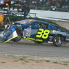 RACING, LATE MODEL, CRA, ASPHALT, ON-TRACK, BERLIN RACEWAY 38, BJORKLUND, BLAKE,CRASH