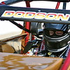 CAMERON DODSON BUCKLED IN FOR SOME NON WING SPRINT CAR ACTION AT WINCHESTER SPEEDWAY - USAC NATIONAL SPRINTS
