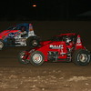 Cory Kruseman and Jerry Coons Jr. on the 1/4 mile southern Indiana oval Lawrenceburg Speedway